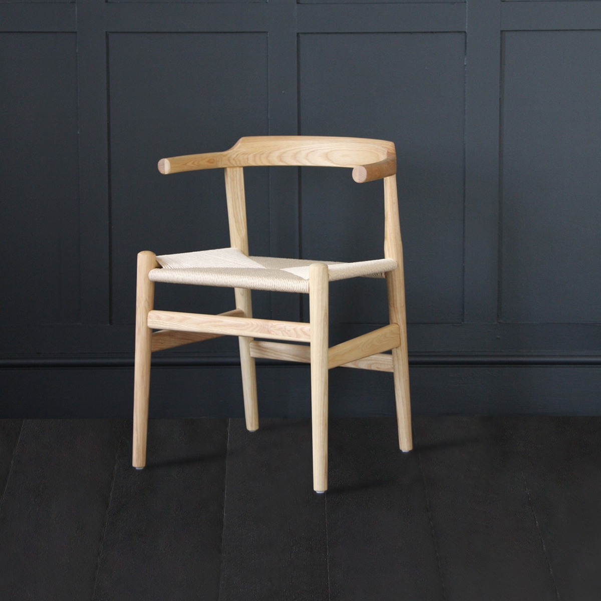 A CHAIR inspired by Hans Wegner Style - Ash - Natural Paper Coil