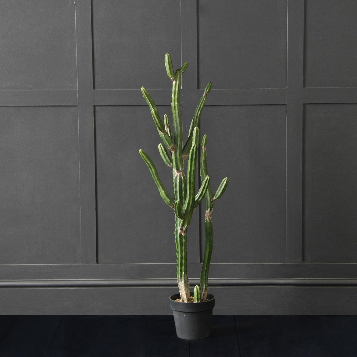 The Texas Desert Artificial Faux Cactus Potted Plant, Medium