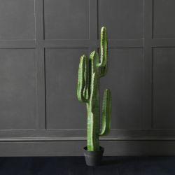 The Arizona Desert Artificial Faux Cactus Plant In Pot, Large