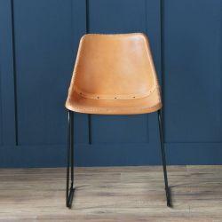 Deluxe Road House Chair, Black Base, Honey