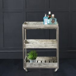 Provencal Gin / Drinks Trolley on Castors