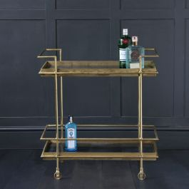 The Art Decor Inspired Lama Drinks Trolley With Black