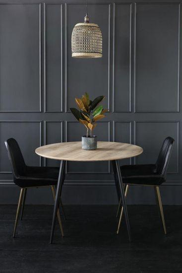Kingston Dining Table Wood Black Wood Kitchen 120 x 120 x 76
