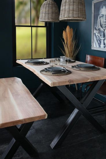 Natural Edge Acacia Dining Table 180 x 90 cm