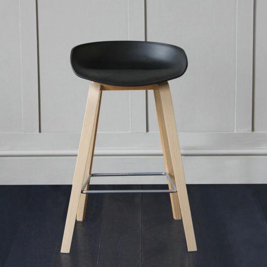 Shoreditch Scandi Bar Stool – Black Seat 66cm