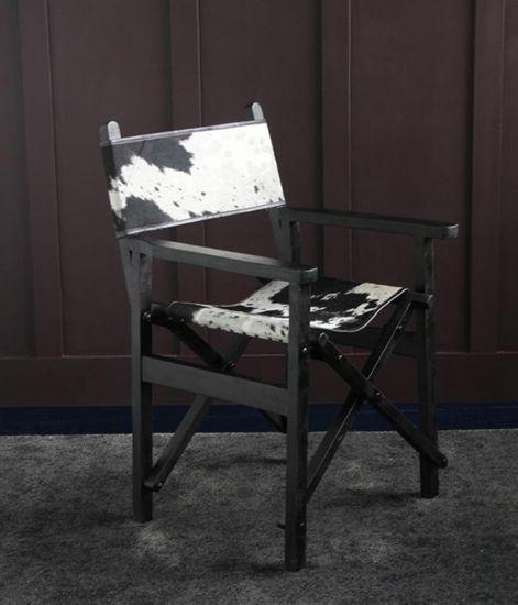 Directors Chair Black & White Cow