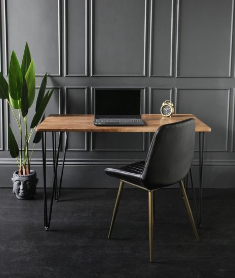 Winchester Dining Table Brown Wood Kitchen Furniture 120 x 80 x 76 cm
