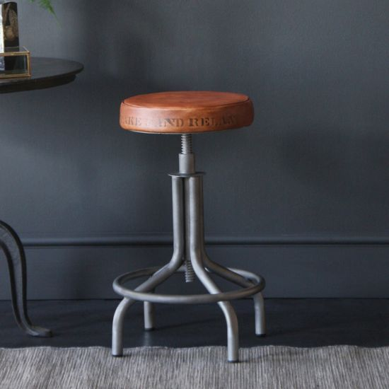 The Spinner Stool - Seat with Writing