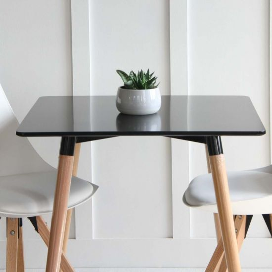 Jamie Chair + Black Halo Square Dining Table includes  2 x Tulip Dining Chairs