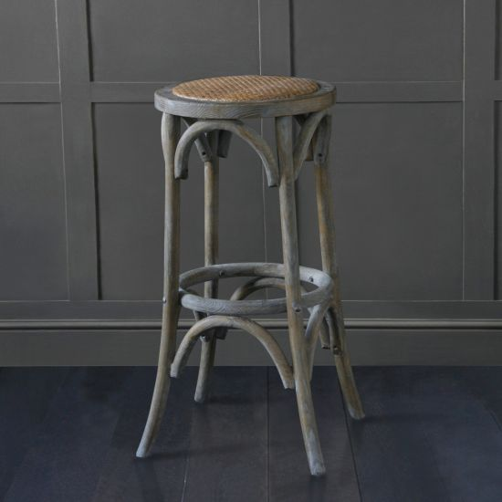 bentwood aged weathered Elm bar stool 76cm