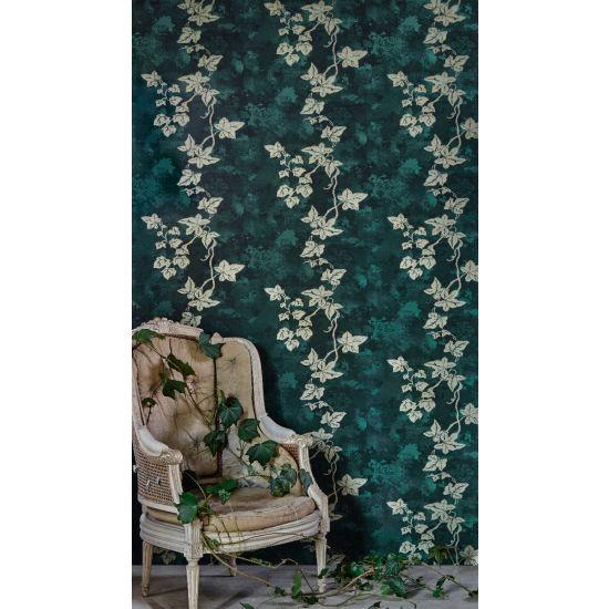Barnaby Gates Ivy Wallpaper, Deep Green