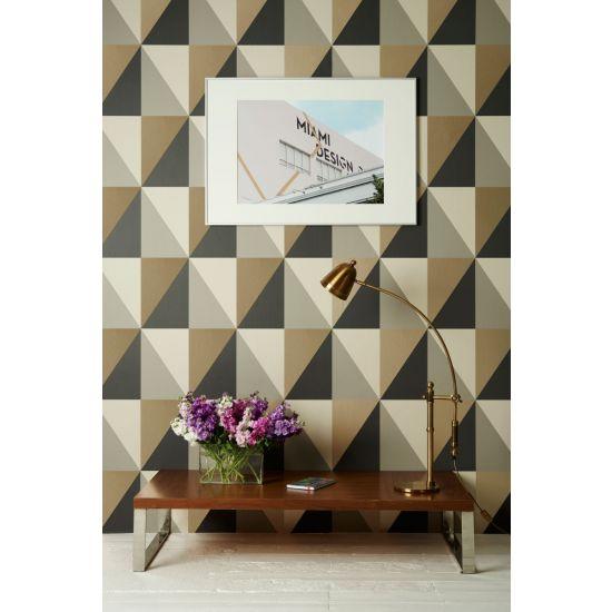 Cole & Son Geometric II Wallpaper, Apex Grand, Grey/Black