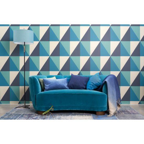 Cole & Son Geometric II Wallpaper, Apex Grand, Teal