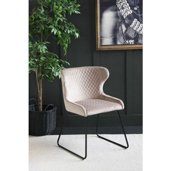 Velvet Dining Chair – 70s Kitsch – Comfortable Dining Chair