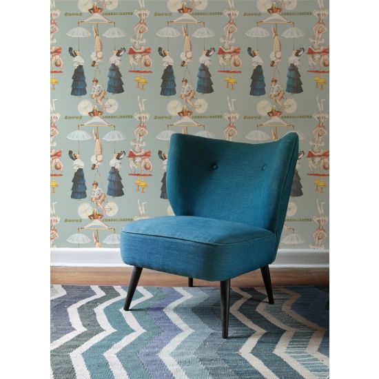 Mind the Gap The Great Show Wallpaper, Blue