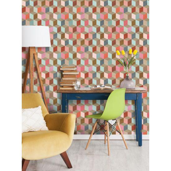Coloured Geometry Wallpaper