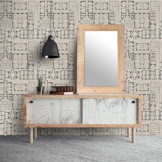 Mind The Gap Chateau Wallpaper, Taupe