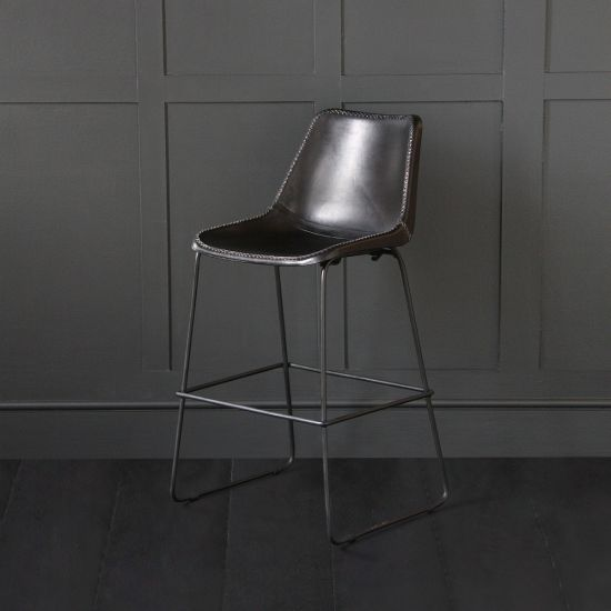 Deluxe Road House - Black Bar Stool 67cm