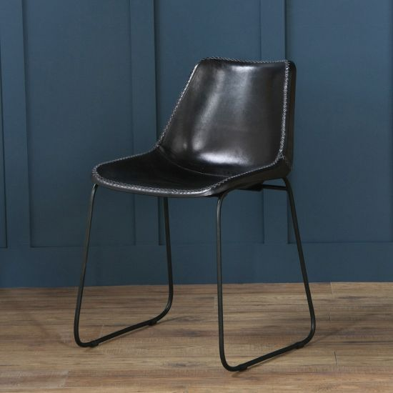 Deluxe Road House Chair, Black Base, Black
