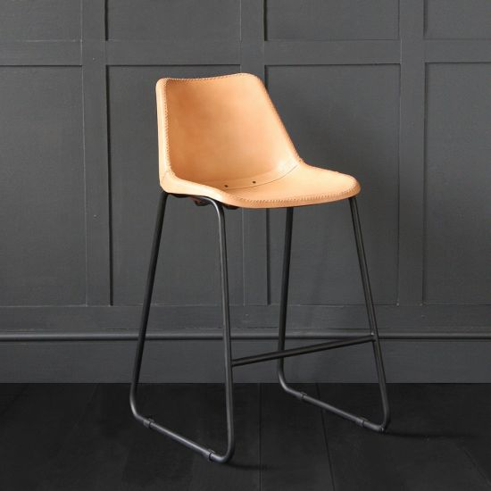 Road House  Bar Stool Honey Seat 67cm