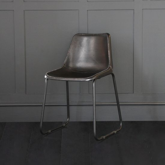 Road House Dining Chair, Black Seat