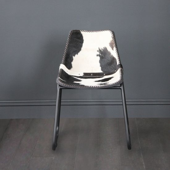 Road House Dining Chair, Cow Hide