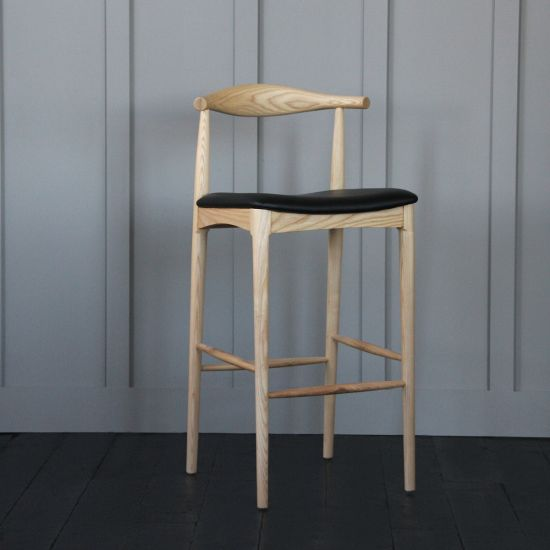 Hans Wegner Style Elbow Bar Stool 76cm