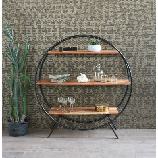 Circle Shelf Round Shelf Unit / Room Divider  (Large) 120m