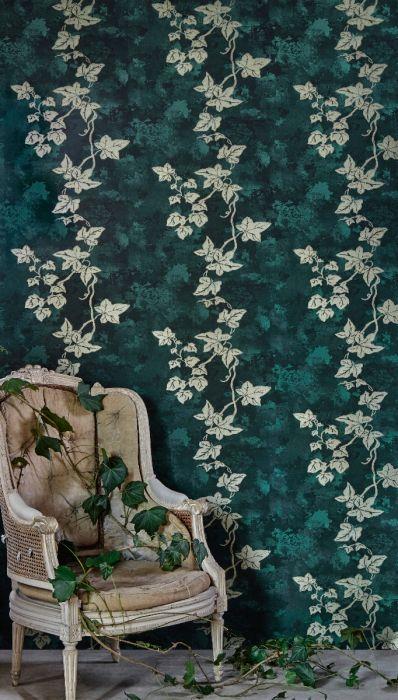 Barnaby Gates Ivy Wallpaper Deep Green