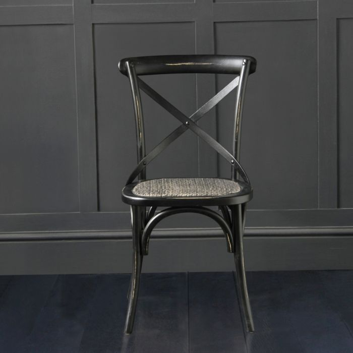 Peachy French Cross Back Bentwood Dining Chair Cafe Restaurant Kitchen Bistro Metal Cross Back Black Squirreltailoven Fun Painted Chair Ideas Images Squirreltailovenorg