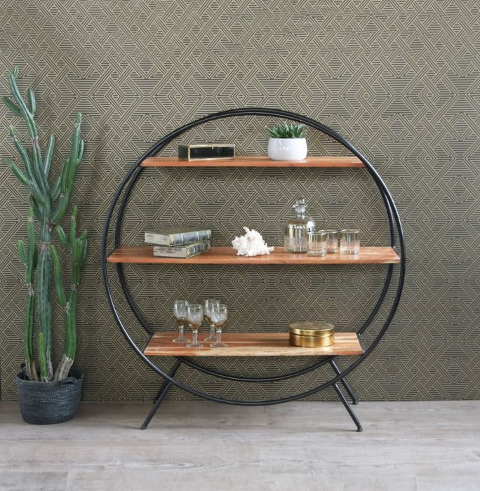 new concept 54066 20230 Circle Shelf Round Shelf Unit / Room Divider (Large) 120m