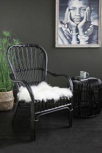 Portofino Black Rattan Arm Chair