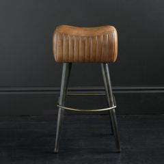 Gibson Leather Pommel Seat – Pewter Base 75