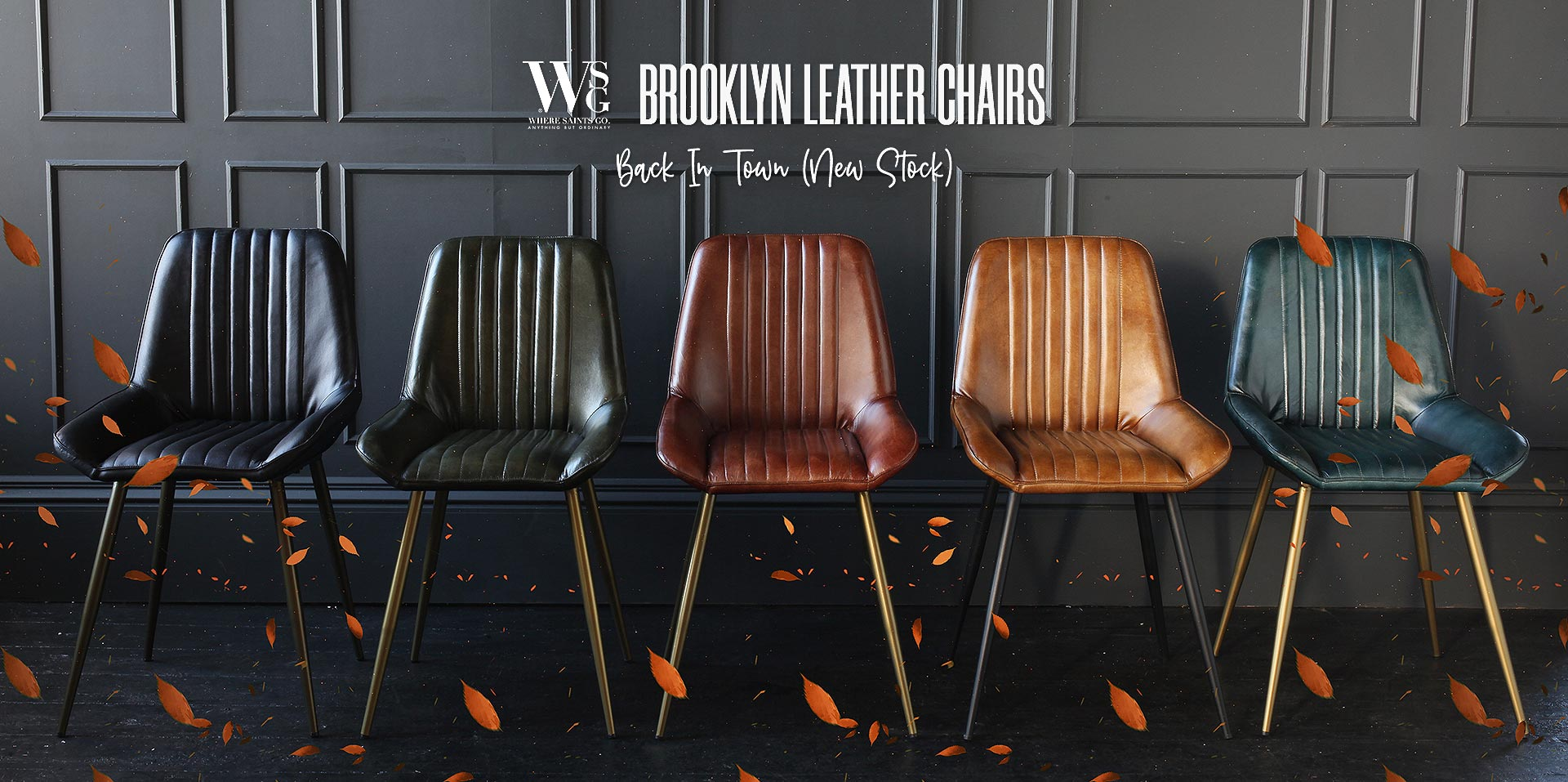 Brooklyn Leather Chairs - Back In Town