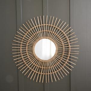 Rattan starburst round mirror by Where Saints Go