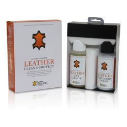 Leather Master - Leather Clean & Protect - Leather Master Maxi Kit: 1x 250 Soft Cleaner, 1x250ml Protection Cream, Sponge and Cloth