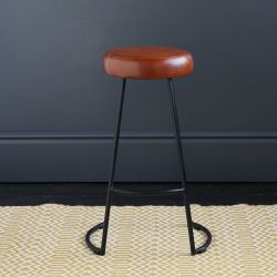 Tapas Industrial Bar Stool, Tan, 67cm