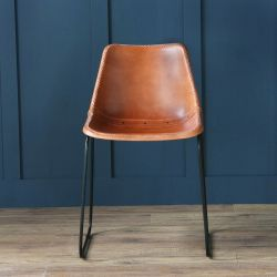 Deluxe Road House Chair, Black Base, Tan