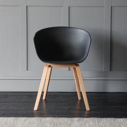 Portobello Scandinavian / Nordic Style Tub Dining Chair, Black