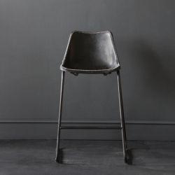 Road House Bar Stool, Black Seat , 67cm