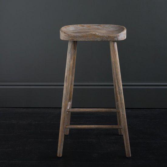 SHAKER BAR STOOL, Weathered Elm, 76 cm