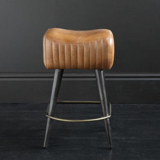 Gibson Leather Pommel Seat – Pewter Base 65cm