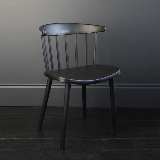 Megan Dining Chair Black Wooden Frame Kitchen Dining Room Armless Modern Décor