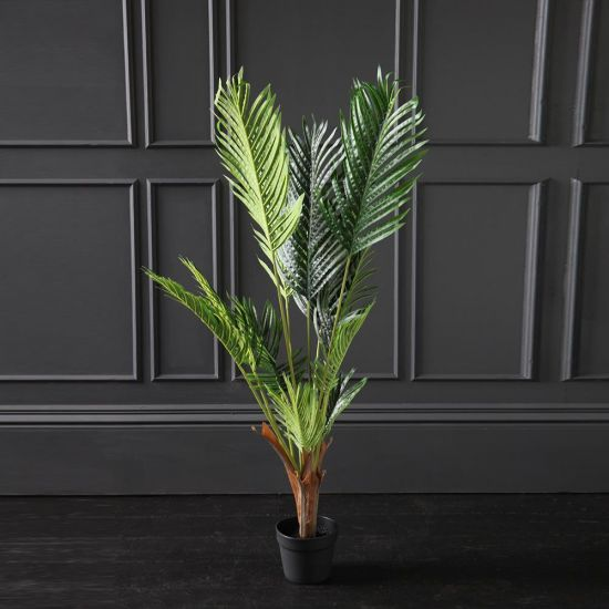 Kwai Artificial Plant Tree Green Brown Black Pot 120cm Decoration Flower