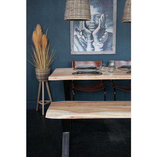 Natural Edge Acacia Bench Seat 150 x 45 cm