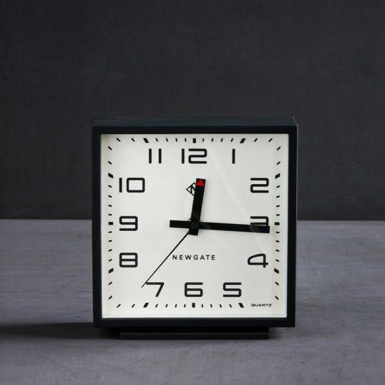 Mantel Desk Clock Square Matte Black - Cream 20.3 x 19.3 cm