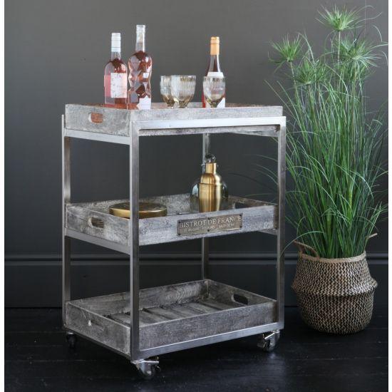 Provencal Gin / Drinks Trolley on Castors