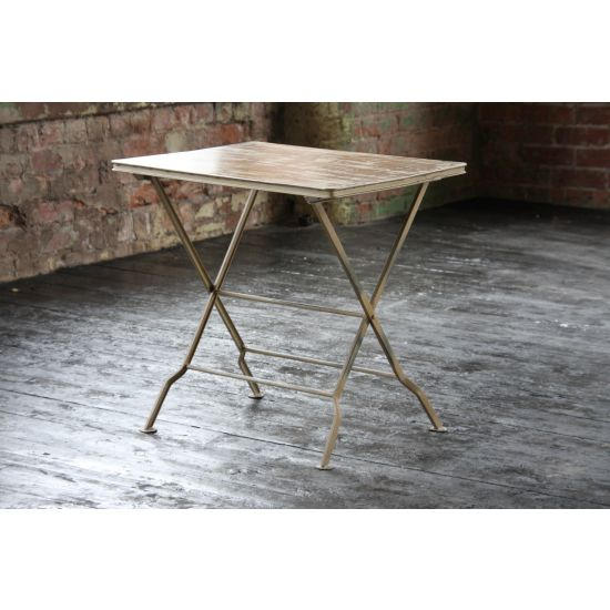 Folding Metal Side Table