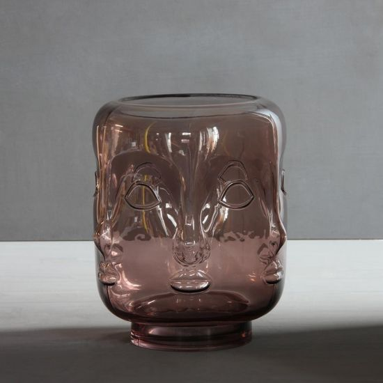 Buddha Glass Rose Vase Multi-Face Design Tealight Holder Lantern