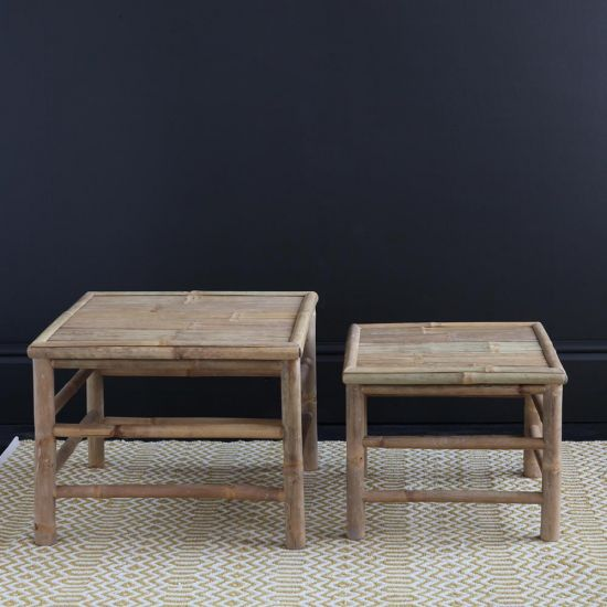 THE BAMBOO SIDE TABLE SET